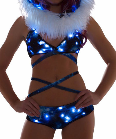 Blue Galaxy Light-Up Wrap Halter
