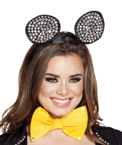Rhinestone Mouse Ears Headband