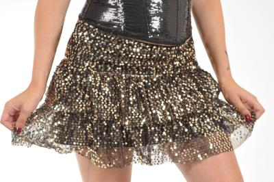 Ruffle Sequin Skirt