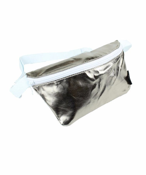 Metallic Gunmetal Fanny Pack