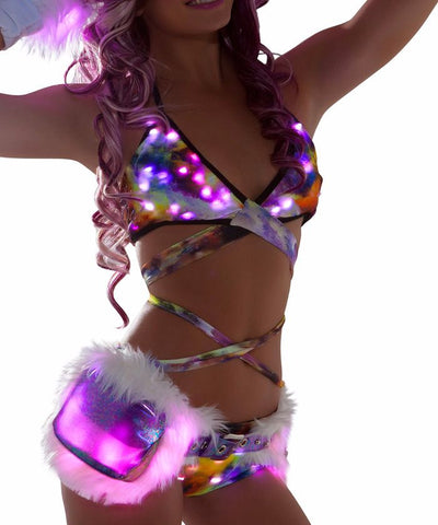 Space Mountain Light-Up Wrap Halter