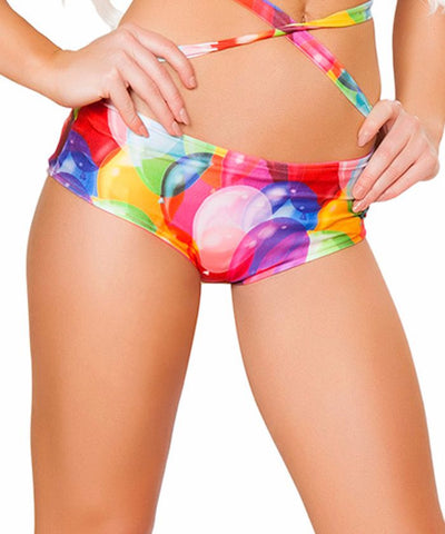Balloon Print Light-Up Shorts