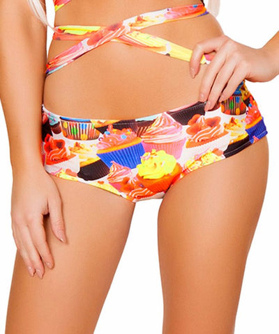 Cupcake Print Light-Up Shorts