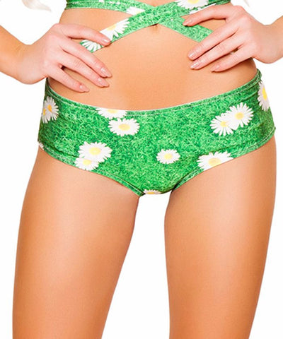 Daisy Print Light-Up Shorts
