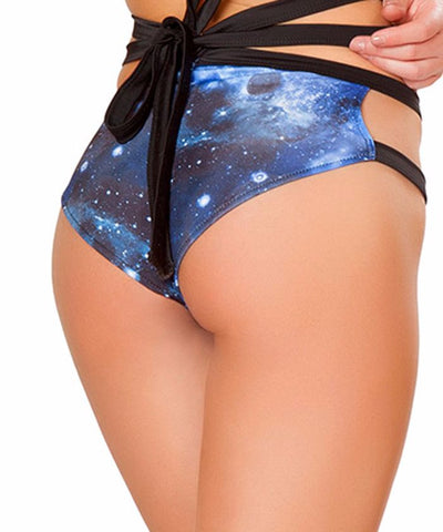 Blue Galaxy Wrap Shorts