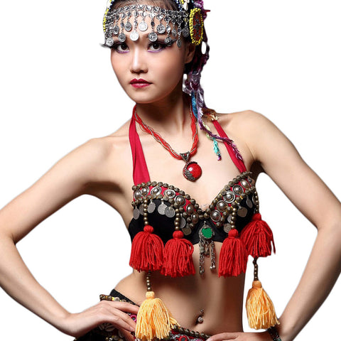 Tribal Coin Bra with Tassels