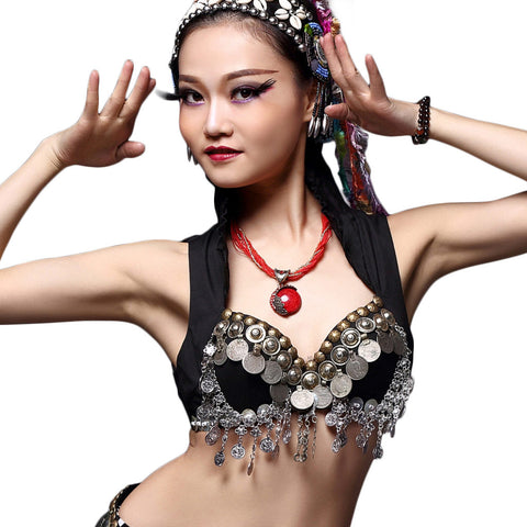Tribal Coin Bra Black