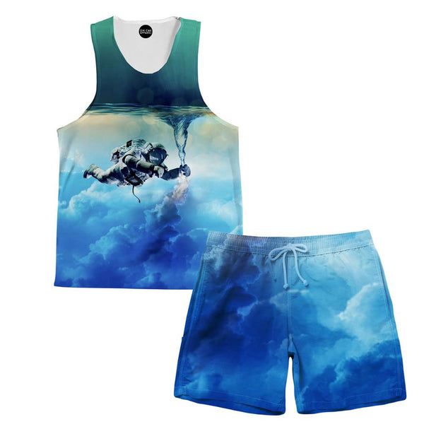 Astronaut Force Tank and Shorts Rave Outfit