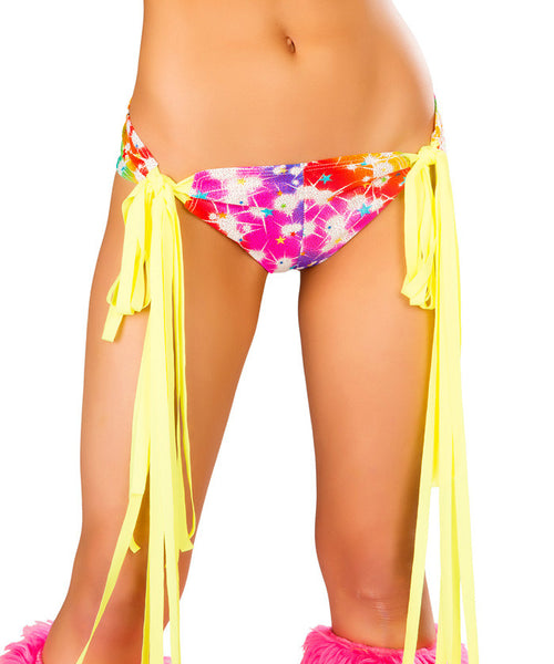 Pretty Cosmos White Fringe Tie Shorts