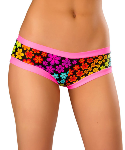 Neon Daisy Hot Shorts