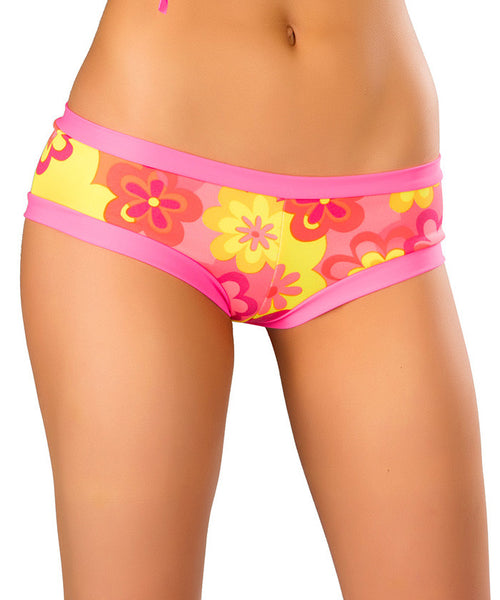 Neon Flower Hot Shorts