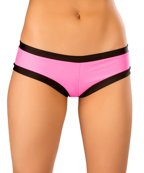 Pink & Black Hot Shorts