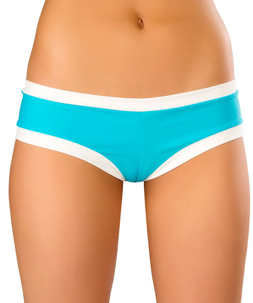 Turquoise & White Hot Shorts
