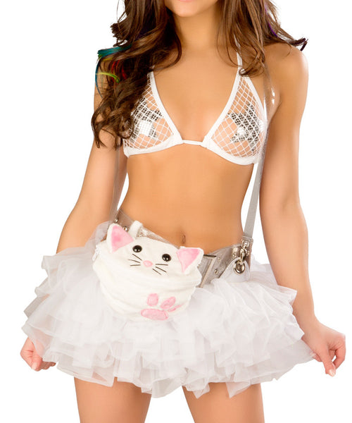 White Suspender Tutu