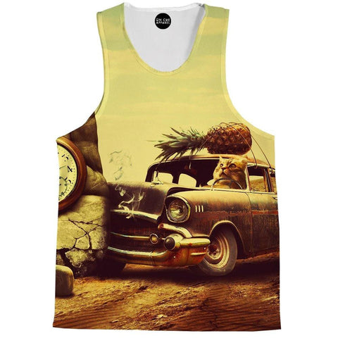 Cat Stunt Driver Tank Top