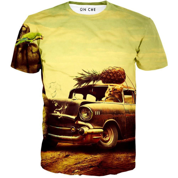 Cat Stunt Driver T-Shirt