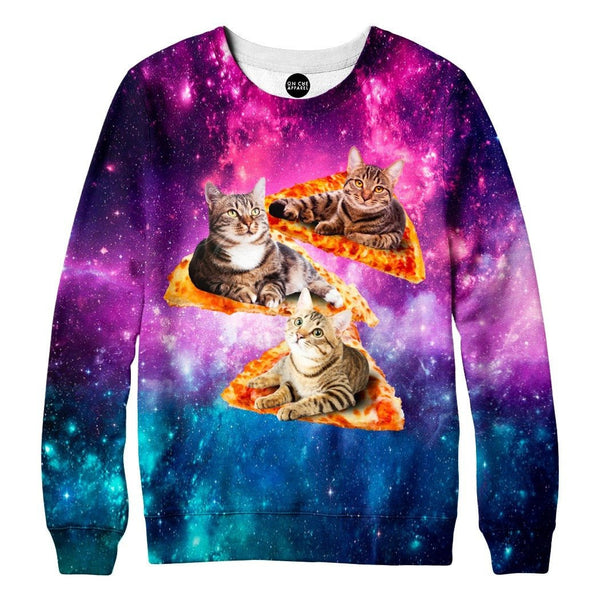 Space, Cats, and Pizza Sweatshirt