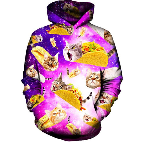 Tacos and Cats Purple Hoodie