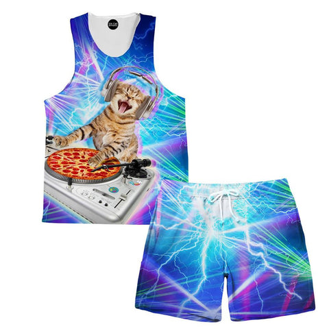 DJ Paws Tank and Shorts Rave Outfit