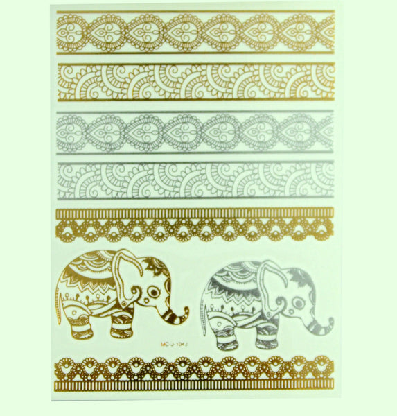 Global Bazaar Metallic Tattoos
