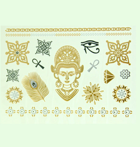Festival Goddess Metallic Tattoos