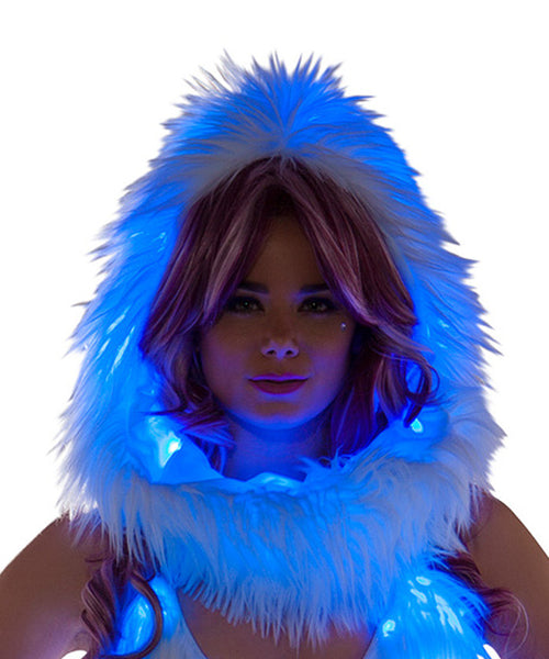 Blue Light-Up Infinity Hood
