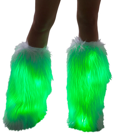 Green Light-Up Fluffies