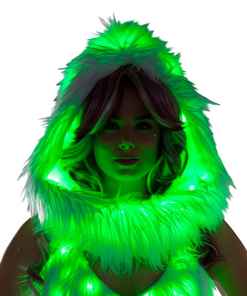 Green Light-Up Infinity Hood