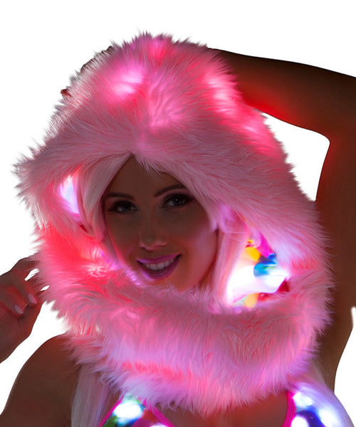 Balloon Print Light-Up Infinity Hood