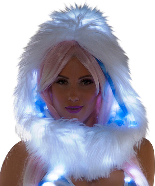 Cloud Print Light-Up Infinity Hood
