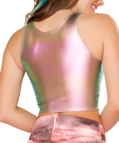 Holo Demin Monster Crop Top