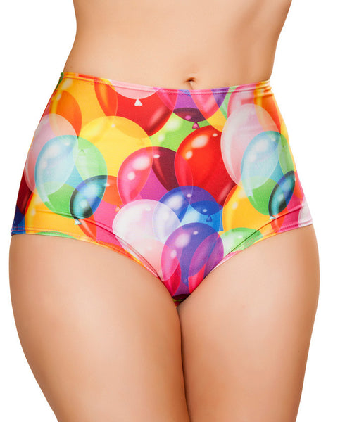 Balloon Print High-Waist Short