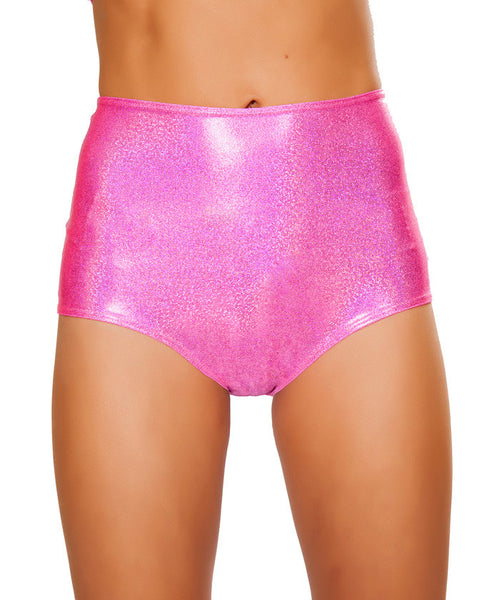 Hot Pink Twinkle High-Waist Shorts