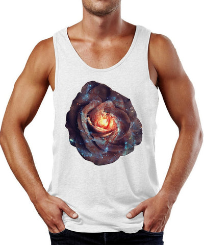 Galactic Blooming Rose Tank Top