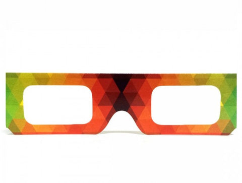 Paper Rainbow Geometric Diffraction Glasses
