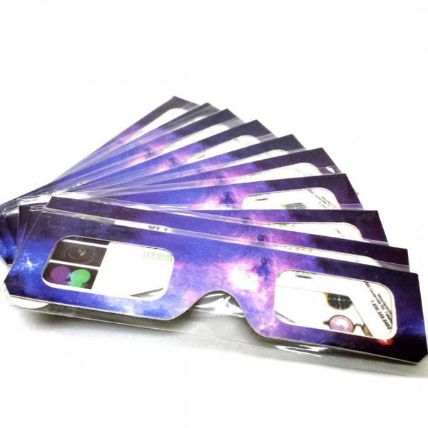 Paper Galaxy Spiral Diffraction Glasses