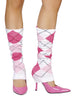 Pink Squared Leg Warmers
