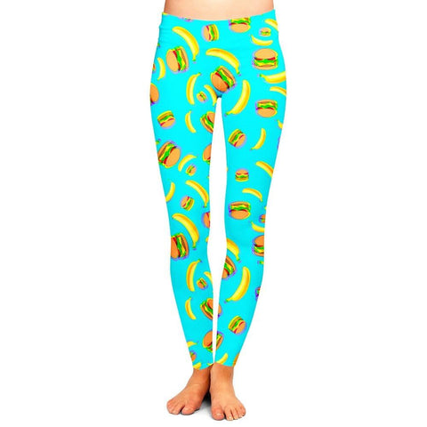 Bananas and Burgers Leggings