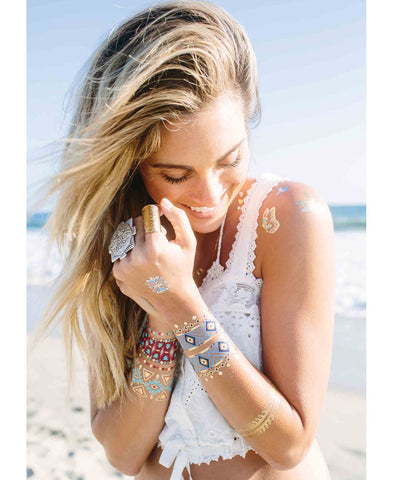 Wanderlust Metallic Tattoos (4 Sheets)