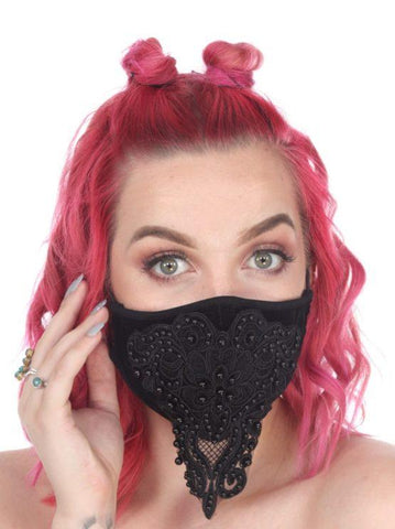 Fancy Beaded Face Mask