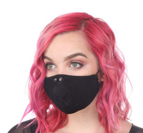 Punk Criss Cross Rivet Mask