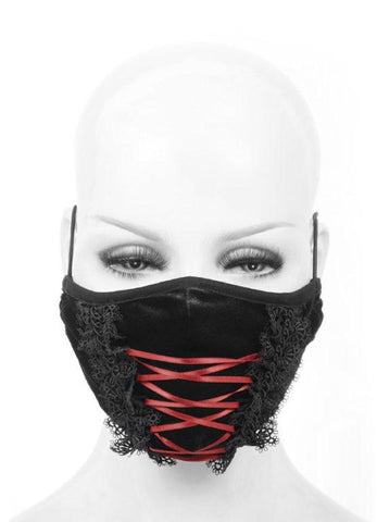 Lace-Up Corset Style Mask With Lace