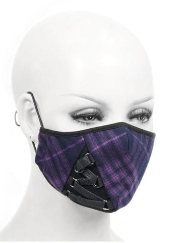 Plaid With Laces Mask