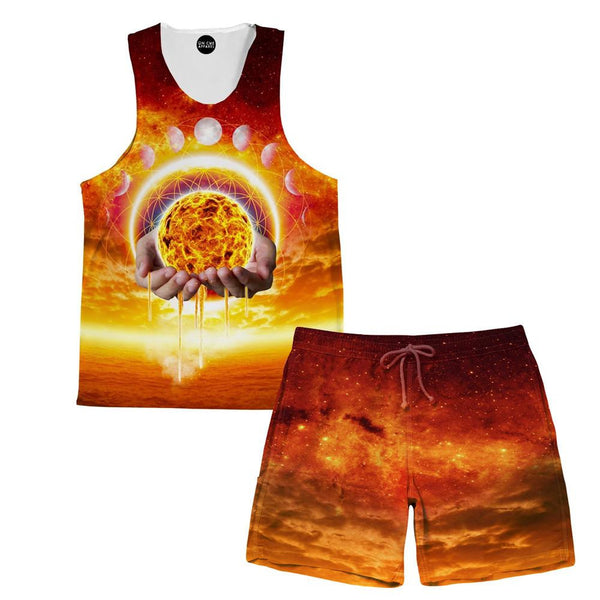 Holding The Sun Tank and Shorts Rave Outfit