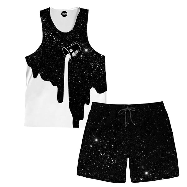 Milky Way Tank and Shorts Rave Outfit
