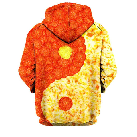 Yin and Yang Pizza Hoodie