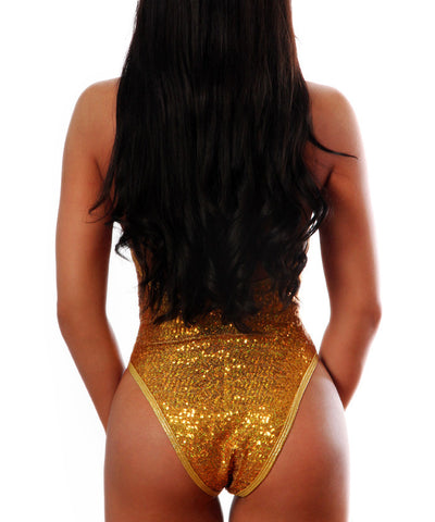 Gold Sequin One Piece