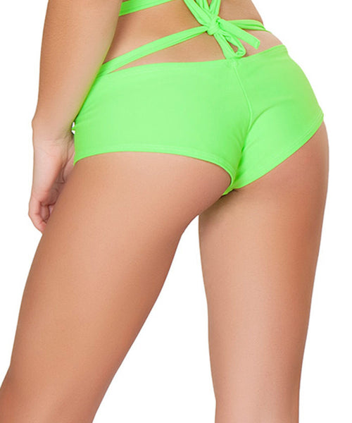 Lime Basic Shorts