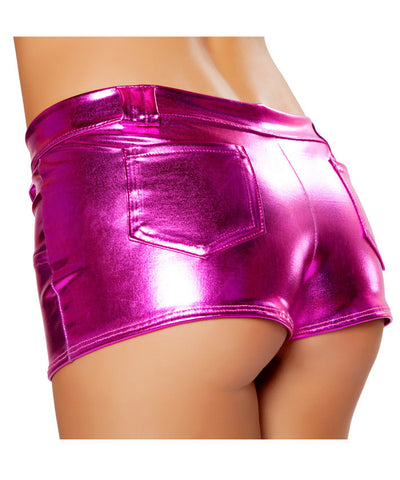 Metallic Pocket Shorts