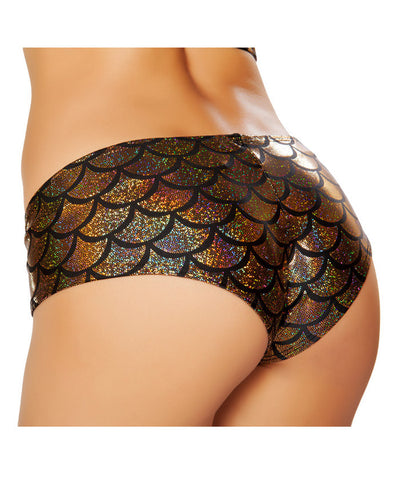 Gold Mermaid Scales Shorts